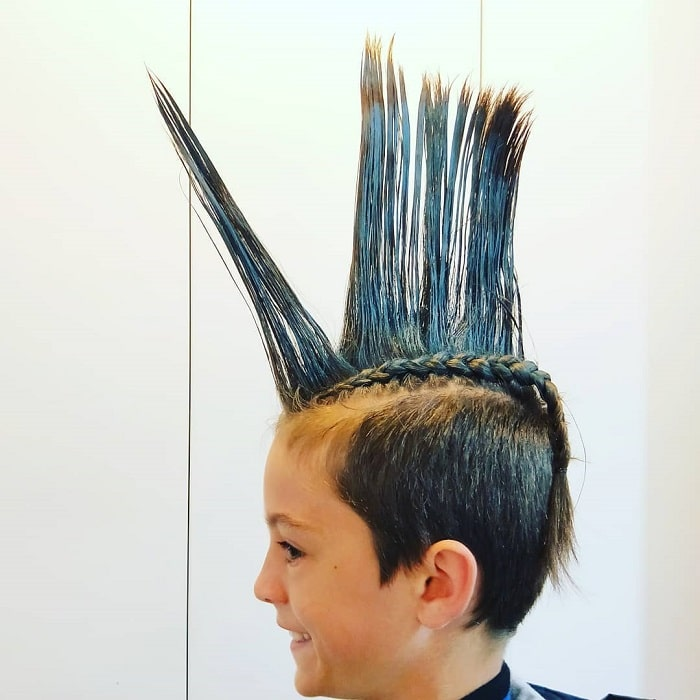 boys braided hairstyles with spiked mohawk