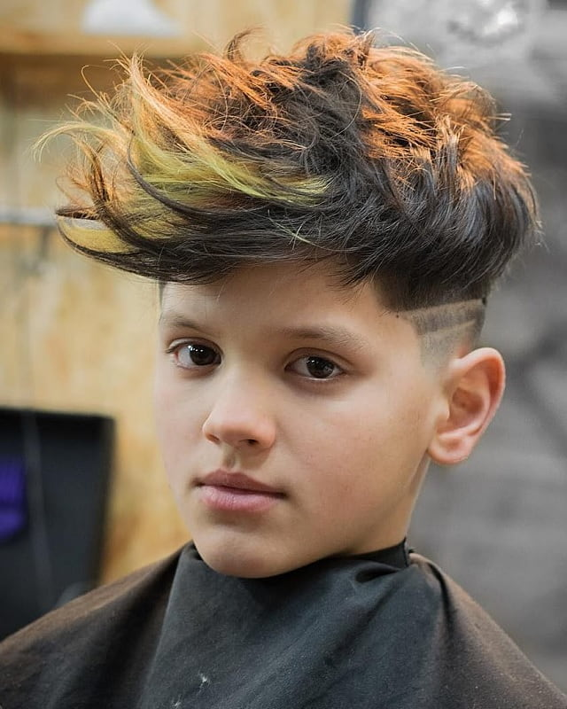 dyed hairstyles with fades for boys