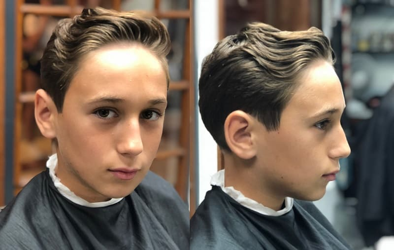 boys haircut long on top