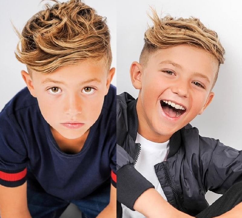 medium haircut with undercut for boys
