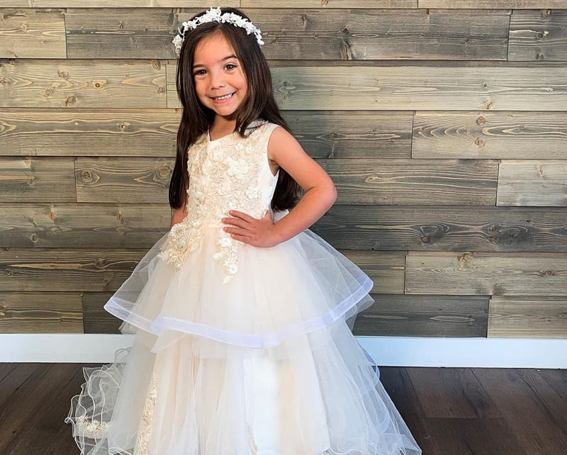 layered dress pattern for flower girls