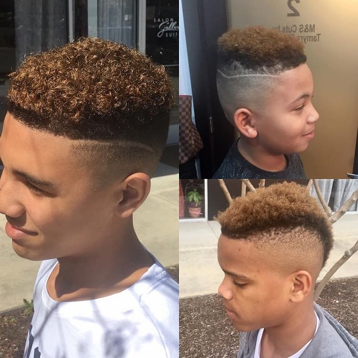 tight curls styles for boys