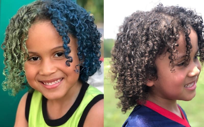 dyed loose curly hairstyles for boys