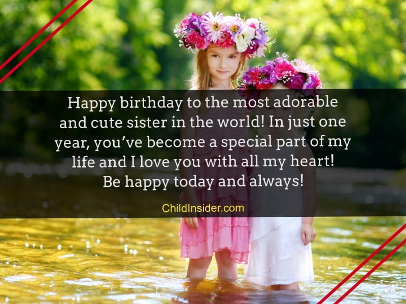 happy birthday quotes for baby sister