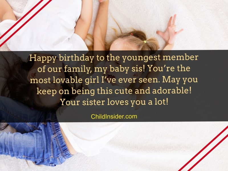 Outstanding 20 Of The Best Happy Birthday Quotes For Baby Sister Personalised Birthday Cards Rectzonderlifede