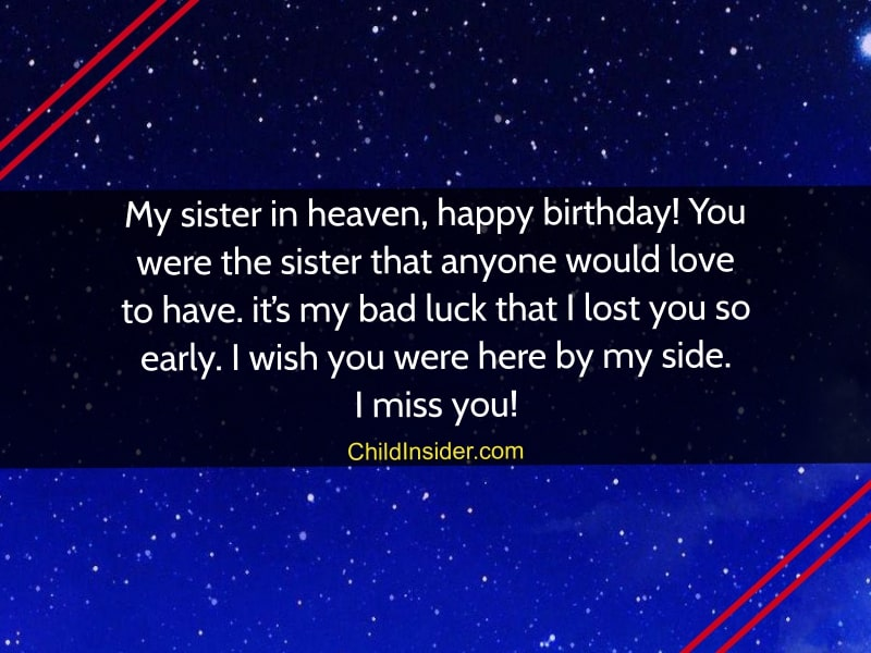 Marvelous 20 Cordial Birthday Wishes For Sister In Heaven Child Insider Personalised Birthday Cards Paralily Jamesorg