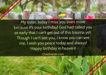 happy birthday in heaven sister