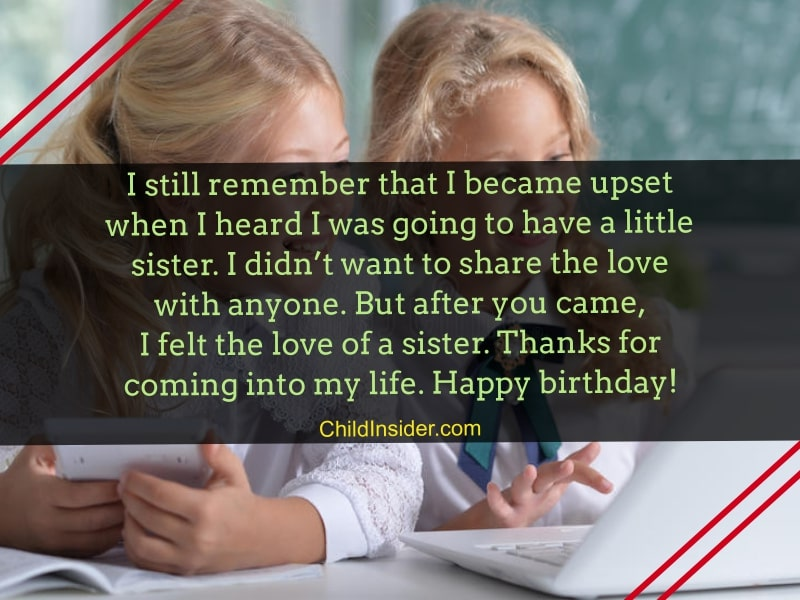 Stupendous 25 Tender Birthday Messages For Younger Sister Funny Birthday Cards Online Inifofree Goldxyz