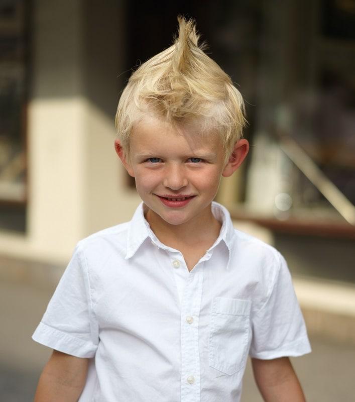 kids blonde mohawk