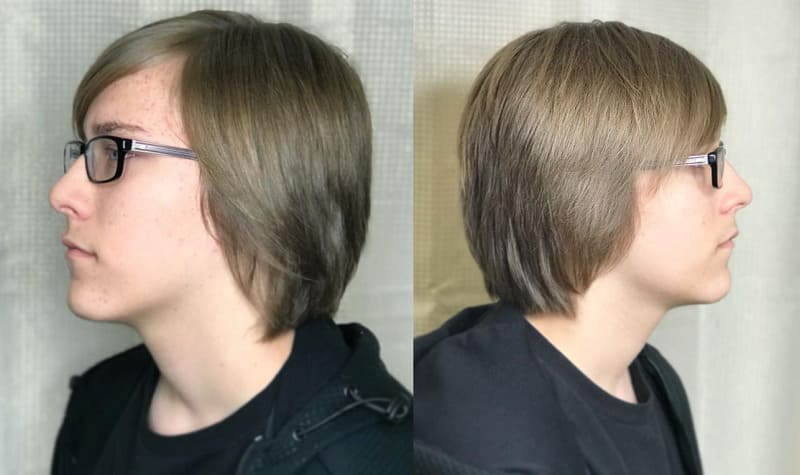 teen boy with shag haircut
