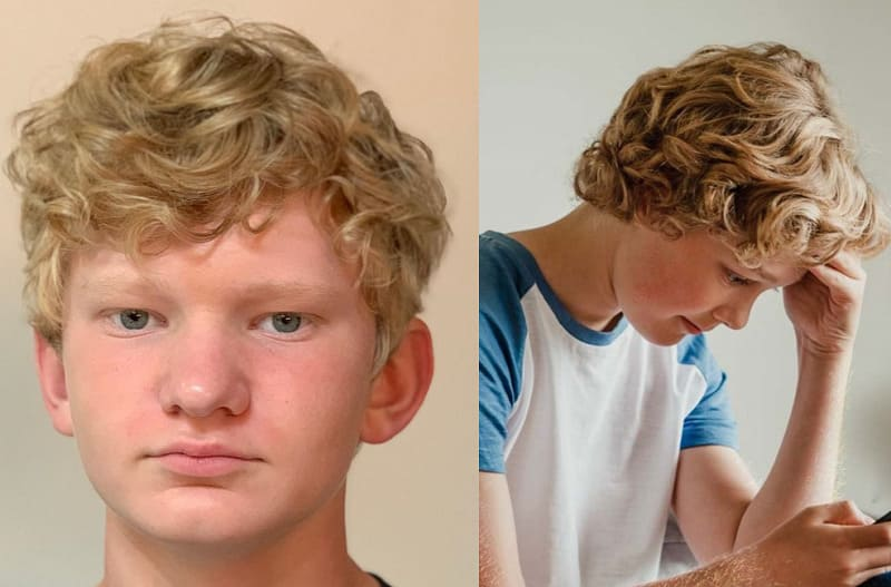 curly hairstyles for teen boys