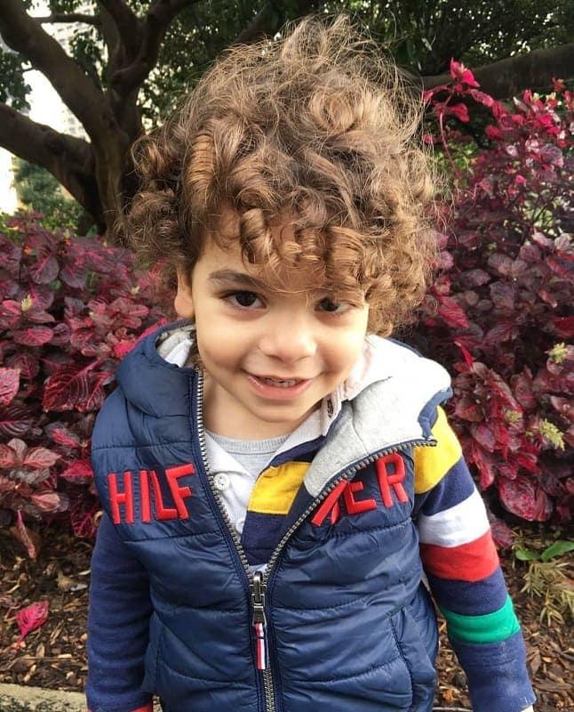 long curly hair for toddler boys