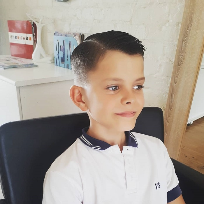 side part hairstyles for 7 year old boys