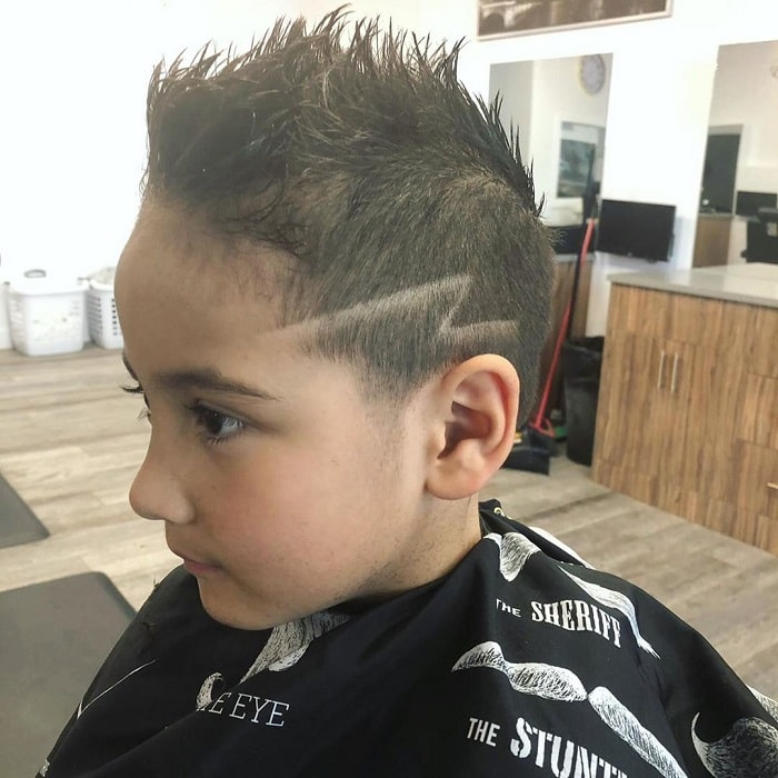7 year old boy haircuts with design