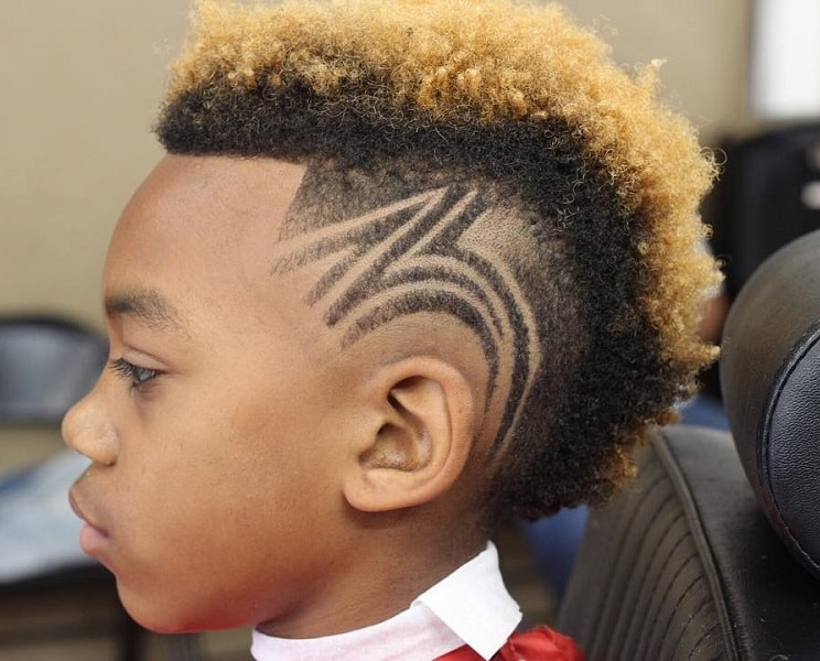 twist hairstyles with designs for black boys
