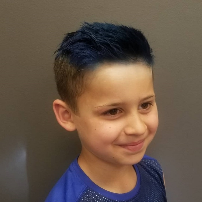 brown base blue hair for boys