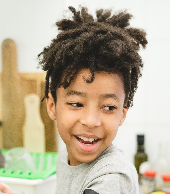 hairstyle for biracial boys