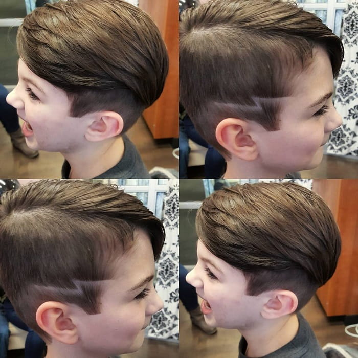 side part haircut for hipster boys