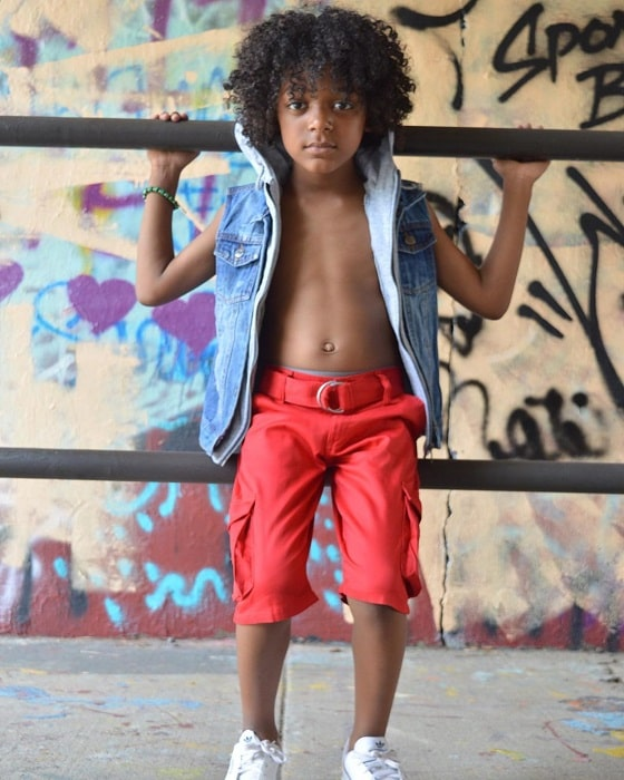 curly hairstyles for black little boys