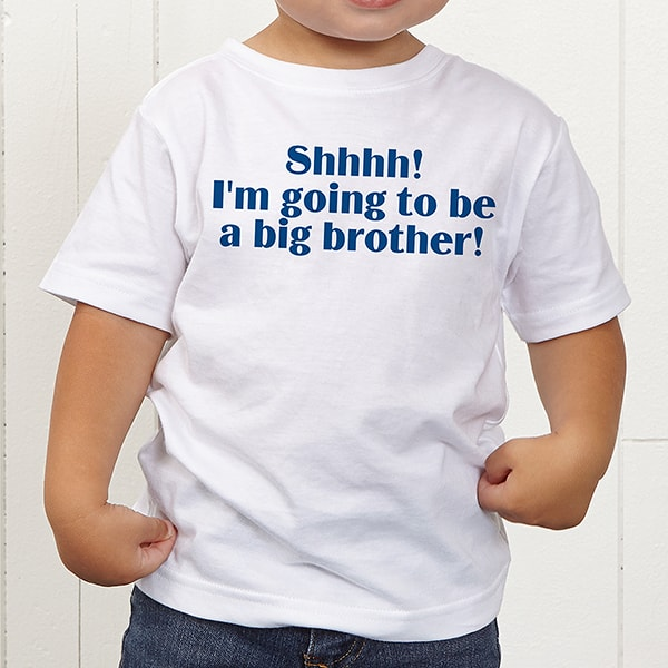 big sibling t-shirt ideas for 2nd pregnancy announcement