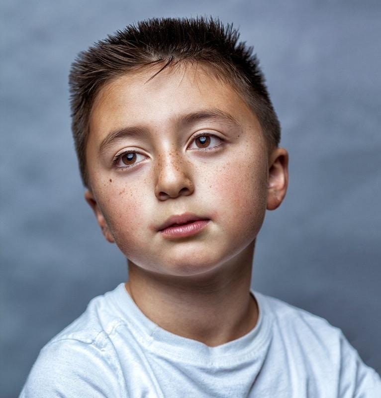 short haircut for biracial boys