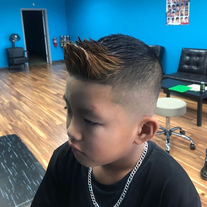 two toned spiky haircuts for boys