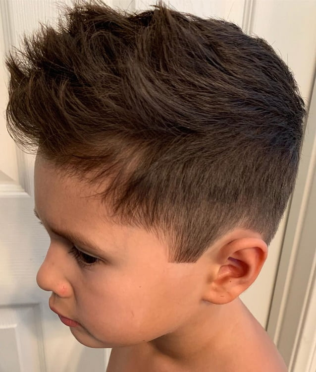 brush over spiky haircuts for boys