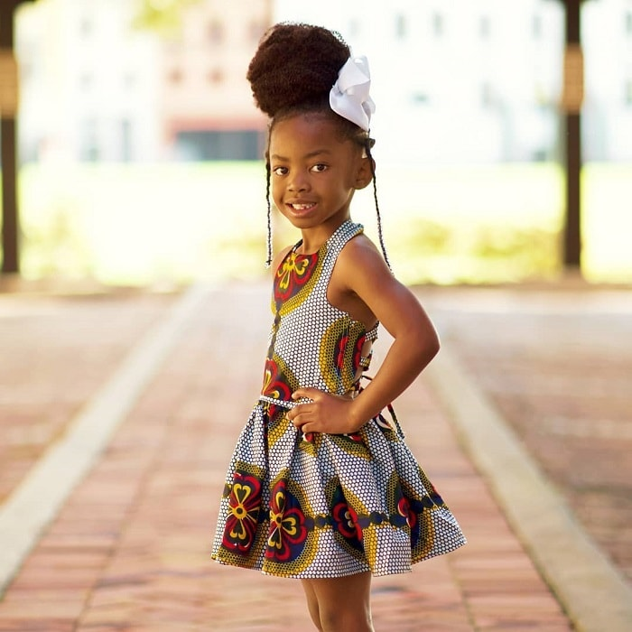 updo for little girl with natural hair