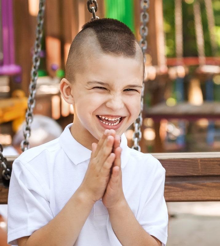 little boy with mohawk